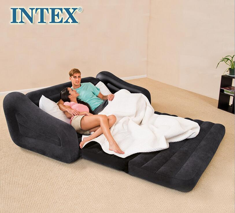 Wide Enough Double Folding Sofa Lazy Inflatable Sofa Bed