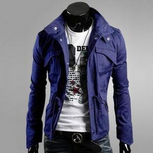 Darmowa wysyłka 2020 męska modna kurtka nowa wiosenna i jesienna męska cienka stójka w stylu casual wąska kurtka M-4xl