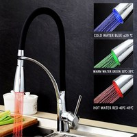 COROTO New Fashion LED Water Faucet Stream Light 3 Colors Changing Glow Shower Tap Head Kitchen Faucet Hot Sales Faucet