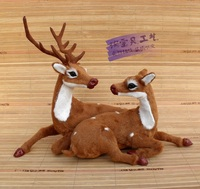 creative simulation deer toy handicraft lifelike deer doll gift about 33x16x24cm