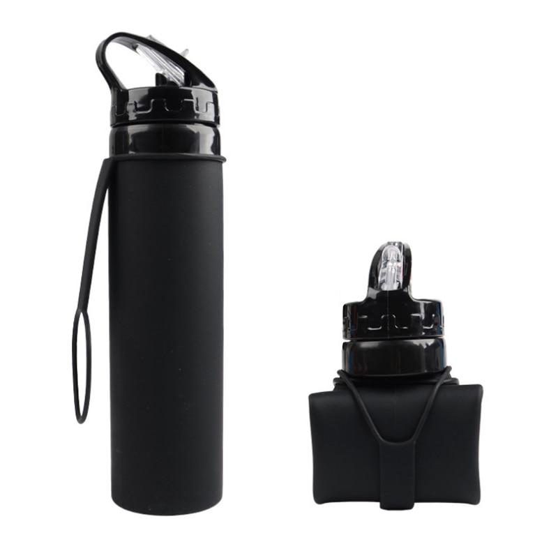 600 мл силиконовые чайник еды бутылку воды дома путешествия портативный открытый бутылка воды спортивные изоляции анти-жгучие бутылки