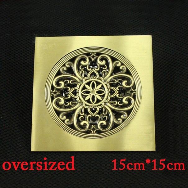 15*15cm Super bigger floor drain bathroom bulilding material square drainer accessories HJ-6125A