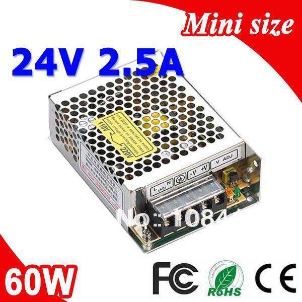 MS-60-24 60W 24V 2.5A Mini size LED Switching Power Supply Transformer 110V 220V AC to DC output ms 120 15 120w 15v 8a single output mini size led switching power supply transformer ac to dc