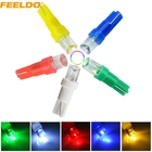 10Pcs T5 286 2721 Concave 1LED Car Dashboard Wedge Base LED Lights Bulbs 12V 5-Color #FD-1025