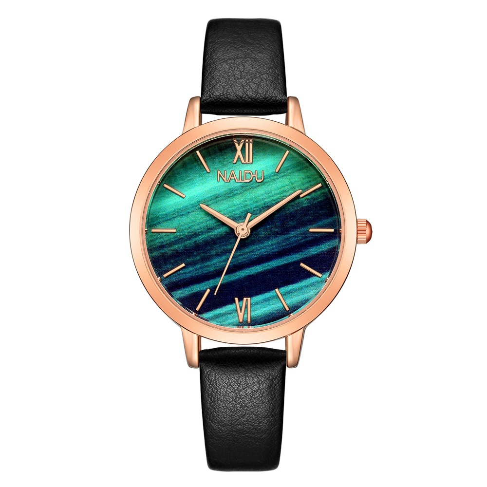 Top Brand Fashion Ladies Watches Marble Dial Female Quartz Wristwatch Women Thin Casual Leather Strap Watch Reloj Mujer Gifts