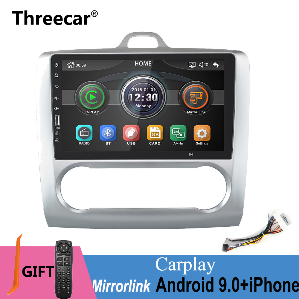 2 din 9 inch mirror link iPhone Android 9.0 Car radio for Ford Focus 2004 2011 Bluetooth USB wheel control Multimedia MP5 Player