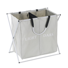 durable foldable laundry bag washing dirty clothes laundry hamper basket sorter organizer storage with mesh lid for family home