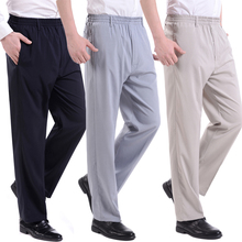 HOT2018 Outdoor summer Male emulation elastic thin elderly people slacks fat waist old men Exercise Pants plu size 10X