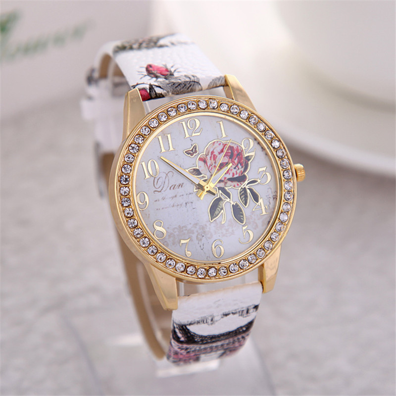 2016 New Fashion Chinese Style Peony Pattern Watch Gilt Digital Quartz Casual Leather Clock Women Dress Cartoon Wristwatch Hot держатель ppyple dash n5 matte black