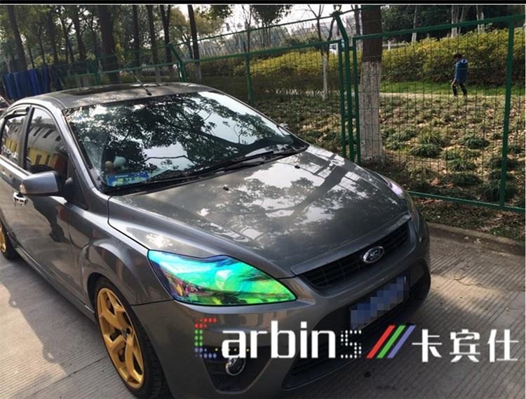 Us 295 Carbins Folia Kameleon Reflektor Barwiony Film Neon Zielony Kolor Dla Samochodów Lampa Motocyklowa Stylizacji W Naklejki Samochodowe Od