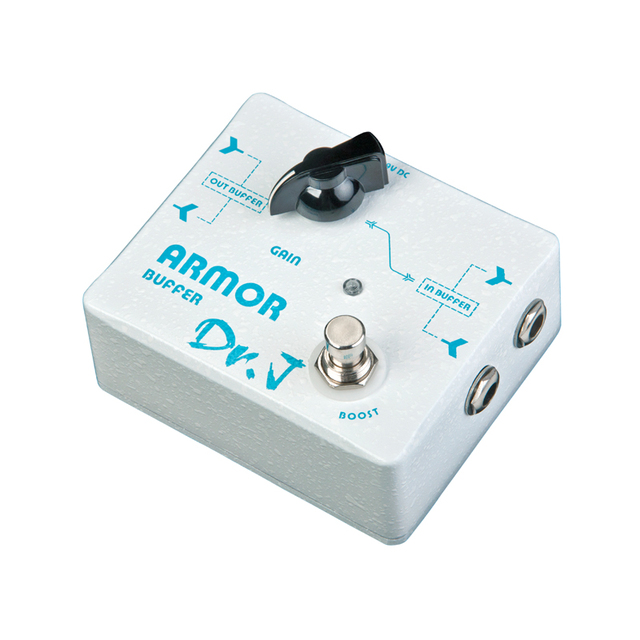 Cheap Dr.J D57 buffer and booster together Guitar Effect Pedal for professional guitar players True Bypass free shipping