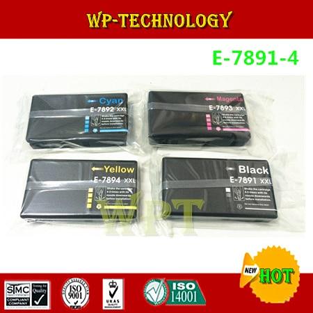 Compatible ink cartridges suit for 7891 XXL - 7894 XXL , E-7891 suit for Epson WF-4630 WF-4640 WF-5110 WF-5190 WF-5620 WF-5690