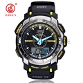 New OHSEN Analog Digital LCD Dual Time Multi-function Mens Boy Sports Watches Rubber Wristwatch Waterproof Quartz Military Watch