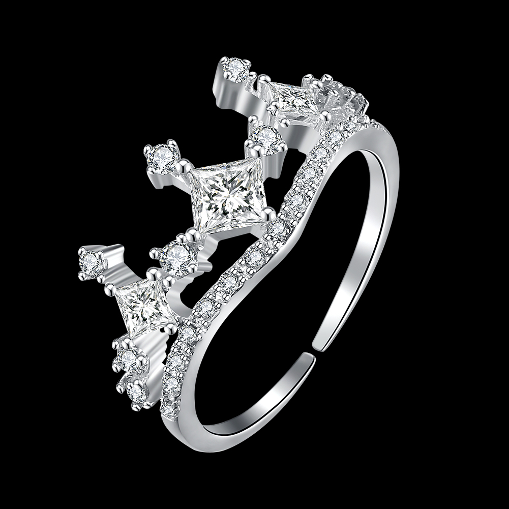 design wedding rings for women free shipping authentic 925 sterling silver my princess queen