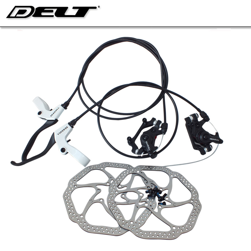 Mtb Mountain Bicycle Bike Disc Brake Rotor Pads Control Lines 160mm