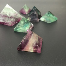 Pure natural crystal pyramid colorful fluorite green blue purple tower decoration wholesale