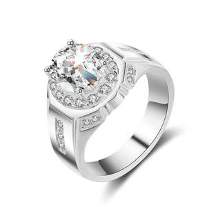 l&zuan S925 Men Ring Engagement Wedding Fine Jewelry