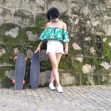 Electric Scooter Skateboard Four Wheel Skate Board Fishboard Remote Controller Dual Motor 700W PU Wheels CE FCC  Certificate