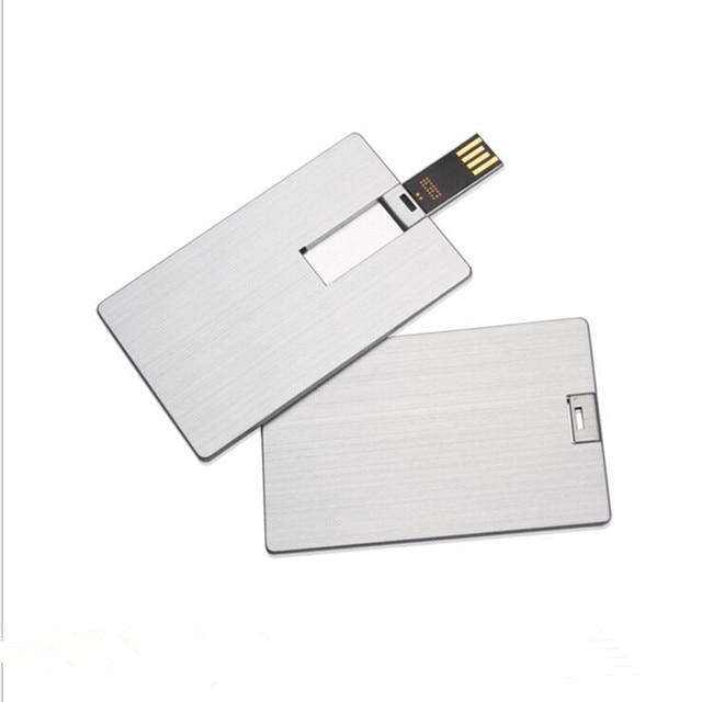 2017 Whole Price 1gb 2gb 4gb 8gb 16gb Memory Stick Ultra Thin Alumium Credit Card Type Usb