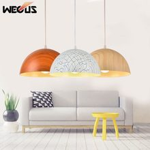 (Wecus) Nordic imitación madera colgante, lámparas de una sola cabeza, comedor cocina office cafe bar restaurante dormitorio luces colgantes