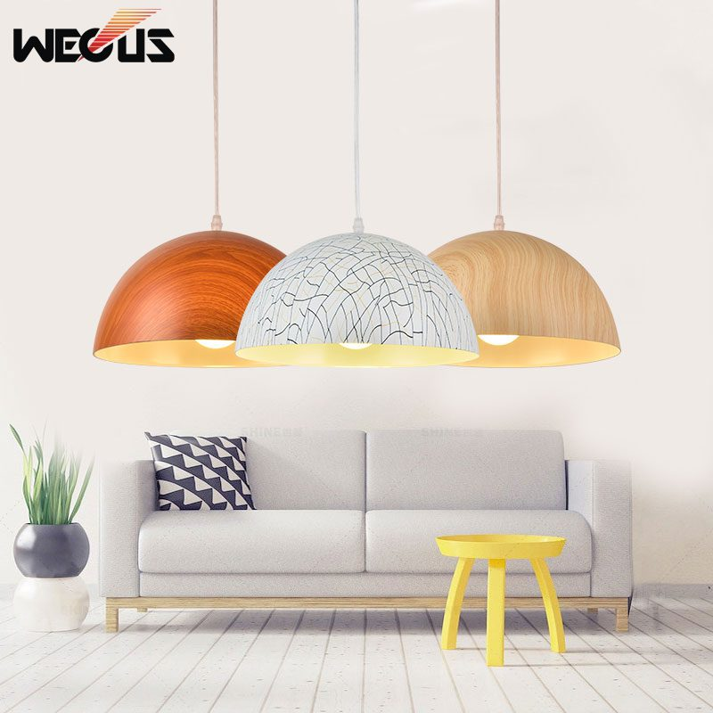 Nordic imitation wood pendant lamps,single head,dining room kitchen restaurant office cafe bar pub bedroom chandelier
