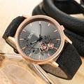 Элегантный циферблат часы для женщин Роскошные наручные часы платье женский часы с кожаным ремнем femme кварцевые наручные часы relogio feminino подарок - фото
