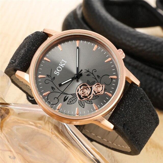 Elegant Dial Watches Women Luxury Bracelet Watch Dress Female Leather montre fem