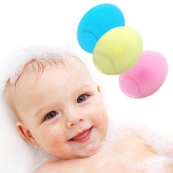 Gorące szczotki do kąpieli mycie twarzy Pad twarzy złuszczający SPA szczotka do czyszczenia twarzy wanna z prysznicem dla dzieci szczotki gąbki pralka suszarka tanie i dobre opinie Gąbka CN (pochodzenie) Wash Pad 2-3Y 4-6Y Typ ramki Stałe