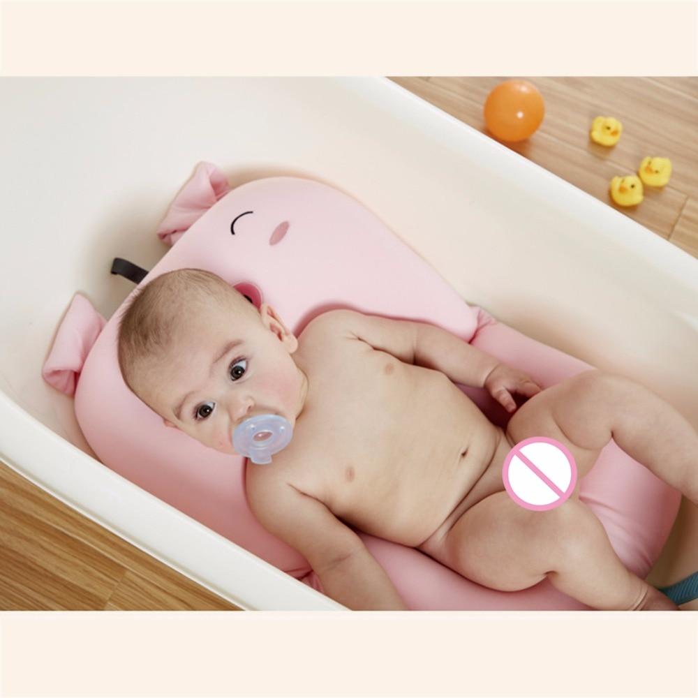 DAISHUBAOBAO Baby Bathtub Mat Cartoon Animals Bath Pad Security Seat ...