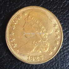 1823 CAPPED BUST $5 Gold Dollar Copy(China)