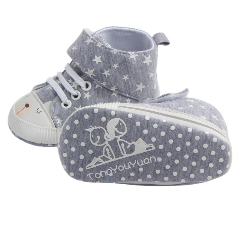 Autumn Winter Classic Casual Baby Shoes First Walkers Toddler Newborn Polka Dots Baby Girls Boy Lace-Up Sneakers Shoes