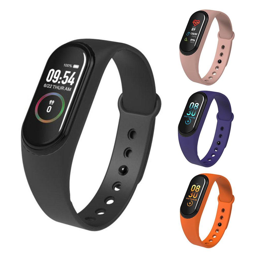 M4 Color Screen Fitness Tracker Heart Rate Blood Pressure Sleep Monitoring Smart Bracelet Call Waterproof Bluetooth Smart Watch