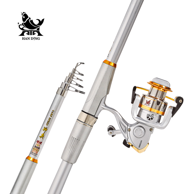 Handing pesca casting sea Fishing Rod reel Combo Super hard High carbon Telescopic Fishing Rod spinning rod baitcasting reel castfun 1 8m 2 1m fuji ring and reel seat sea fishing boat rod high carbon casting spinning rod canne fishing rod