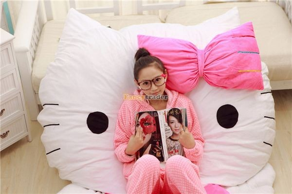 Fancytrader 200cm X 150cm Soft Lovely Huge Giant Pink Hello Kitty Double Bed Carpet Sofa, FT50313 (12)