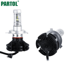 X3 Partol H4 H7 H11 9005 9006 H13 Car LED Headlights Bulbs 50W 6000LM CREE Chips All in one CSP LED Headlamp 3000K 6500K 8000K