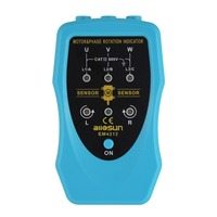 Phase Sequence Rotary and Motor Rotation Indicator Conveyors Pump Tester Meter Industrial Tool 120~460VAC