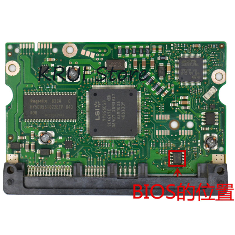 HDD Pcb/Board ST3500820AS 100468972 REV DLAJ-4 title=