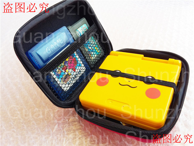 1 x custom hard case bags w card holder for gameboy advance sp for