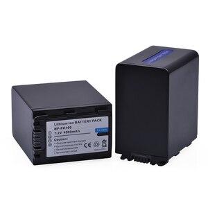 Image 3 - 2 adet 4500mAh NP FH100 NP FH100 Pil + USB çifte şarj makinesi Sony DCR SX40 SX40R SX41 HDR CX105 FH90 FH70 FH60 FH40 FH30 FP50