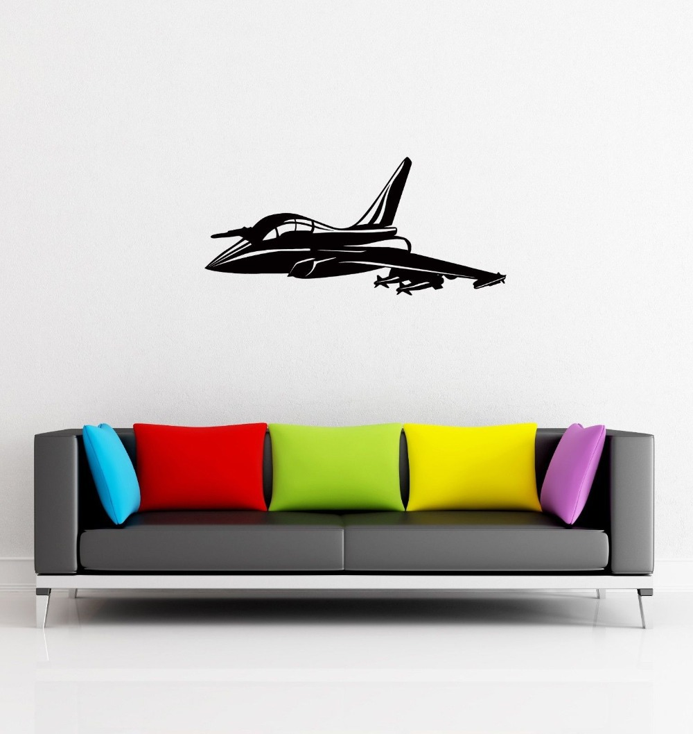 Wall Sticker Jet Airplane Airforce for Living Room