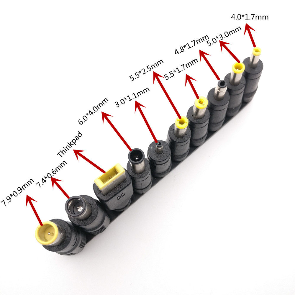 Universal 10pcs 5.5x2.1mm Multi-type Male Jack For DC Plugs For AC Power Adapter Computer Cables Connectors For Notebook Laptop