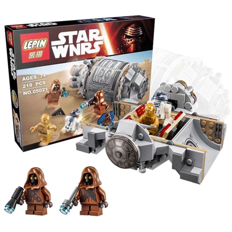LEPIN 05021 Star Wars Droid Escape Pod 75136 Minifigure Building Blocks Set Bricks Toys The Force