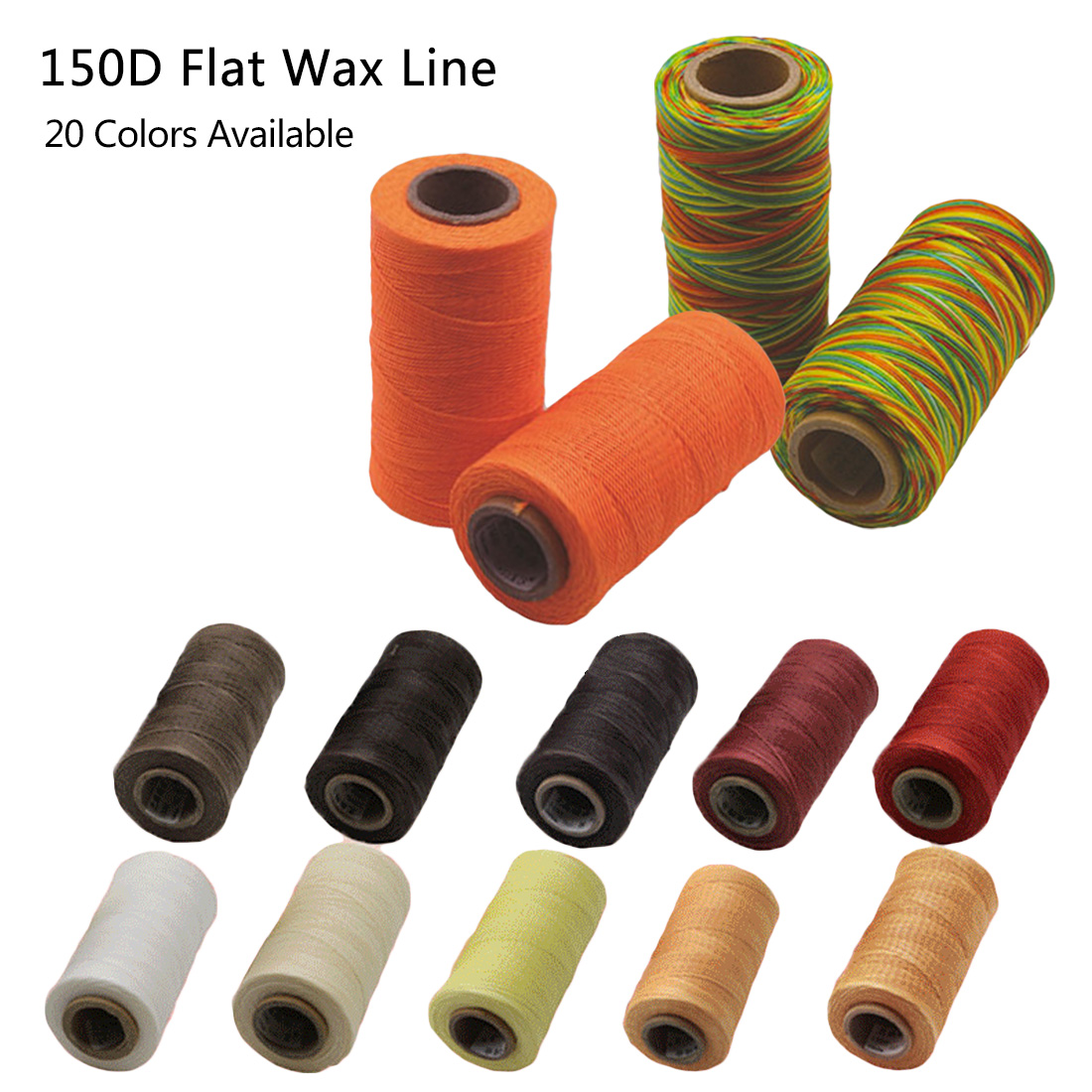 150D 50m Sewing Flat Wax Line Handmade DIY Necklace Bead String Art Crafts Rope