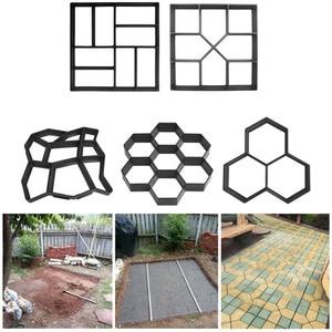 Image 2 - Manually Paving Cement Brick Concrete Molds DIY Plastic Path Maker Mold Garden Stone Road Mold Garden Decoration