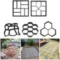 Manuell Pflaster Zement Ziegel Beton Formen DIY Kunststoff Pfad Maker Form Garten Stein Straße Form Garten Dekoration