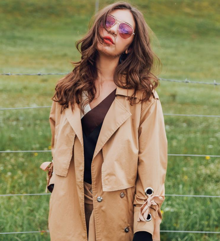 Autumn Women   Trench   Coat 2017 Fashion Long Outwear Plus Size Slim   Trench   Coat for Women With Belt Female Coat 175731