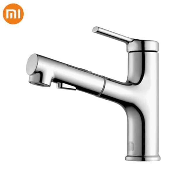 Xiaomi DABAI 浴室の洗面台蛇口プルアウトとリンサ噴霧器ブラッシングうがい 2 モードミキサータップホット & コールド浴槽の蛇口