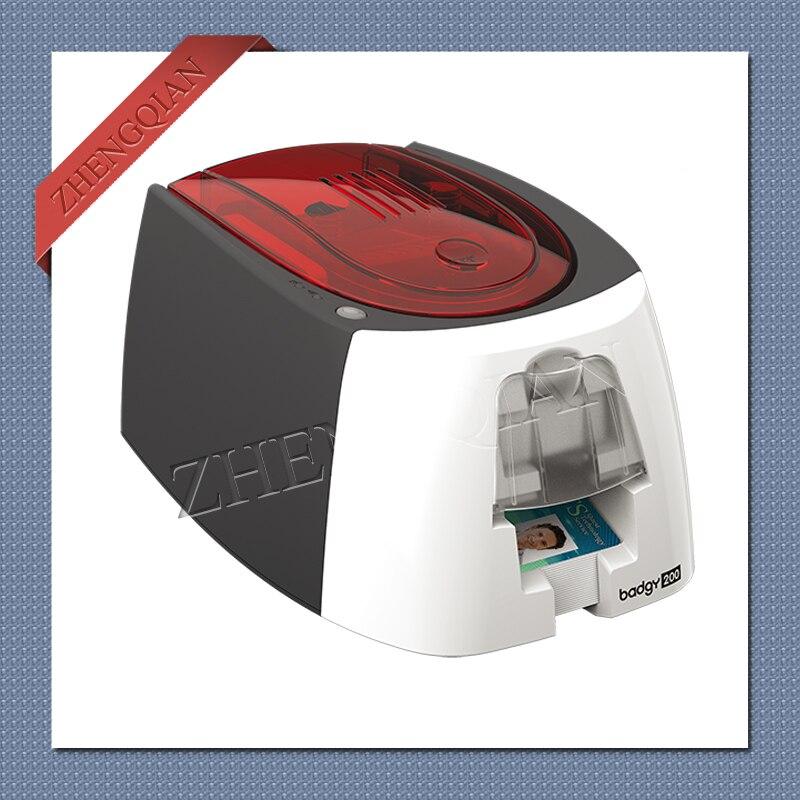 Evolis Badgy 200 Card printer use  CBGR0100C  YMCKO  ribbon printer     - title=