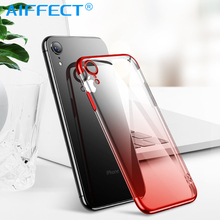 AIFFECT Gradient Plating Case for iPhone Xr XS Max Cover Transparent Silicone Luxury Aurora Soft TPU Phone