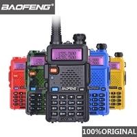 baofeng uv5r 100% המקוריים Baofeng UV5R מכשיר קשר Dual Band המקצועי 5W UV 5R Ham שתי דרך רדיו UV5R כף יד ציד HF משדר (1)